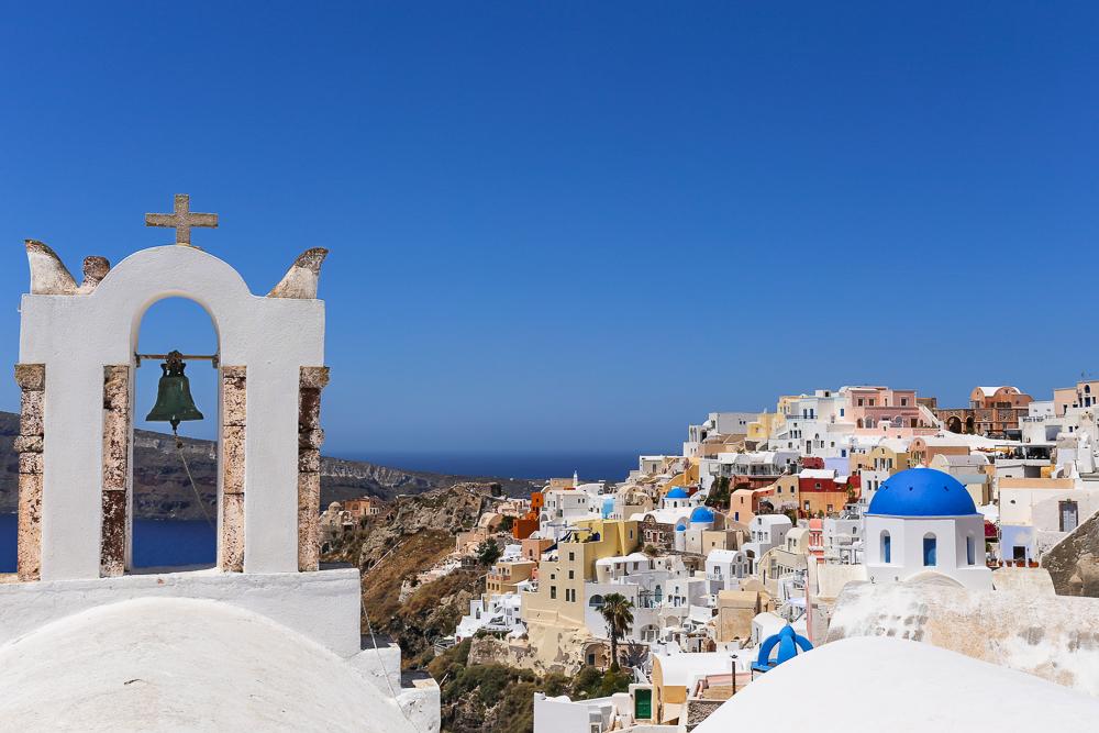 Greek Island Holiday, looking over Oia on Santorini