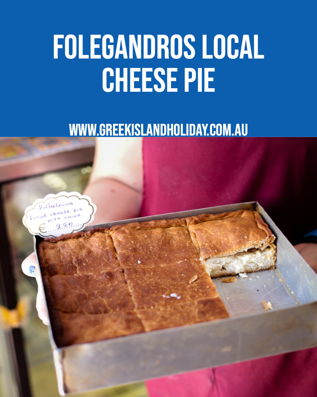 Folegandros local cheese pie
