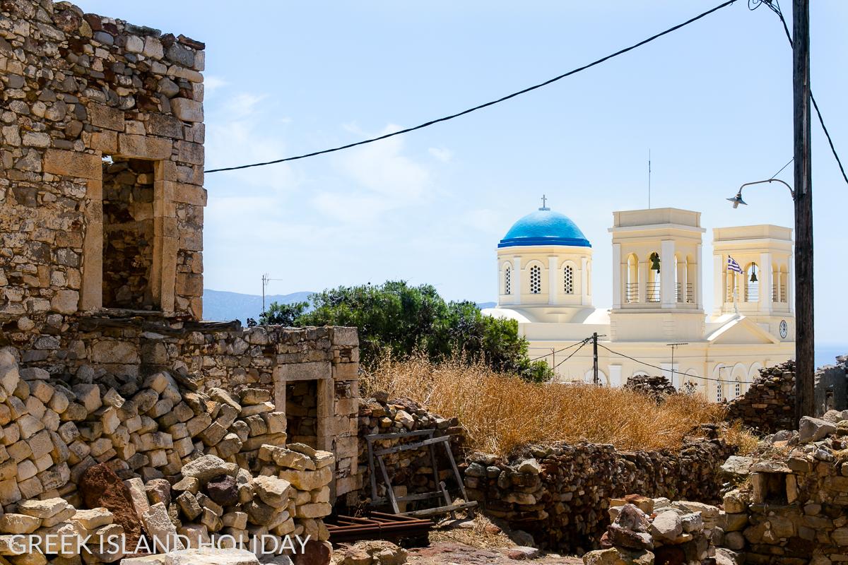 Greek Island Holiday, the Church of Panagia Odigitria on Kimolos